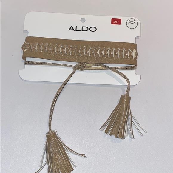 New Aldo accessories choker necklace faux leather